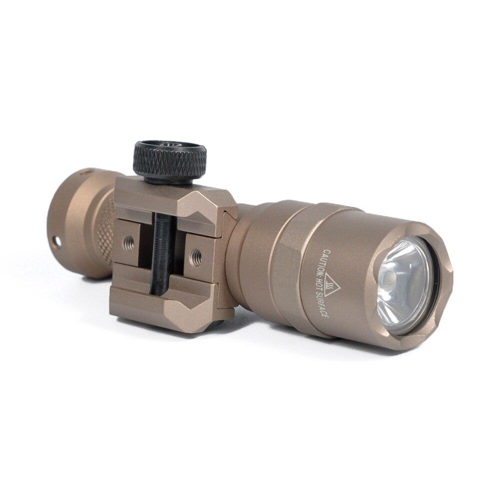 arma de luz tatica led lanterna 400 lumen caber 20mm montagem em trilho m300 mini rifle