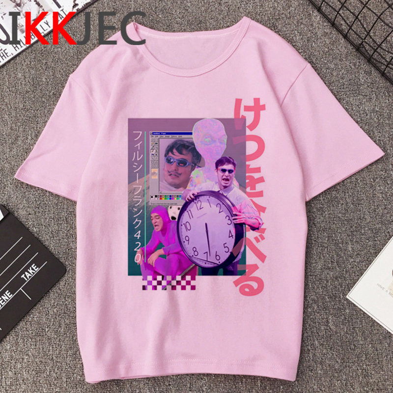 Vaporwave Hip Hop T-shirt Men Harajuku Grunge Aesthetic T Shirt Unisex Fashion Ullzang Tshirt Streetwear Graphic Top Tees Male