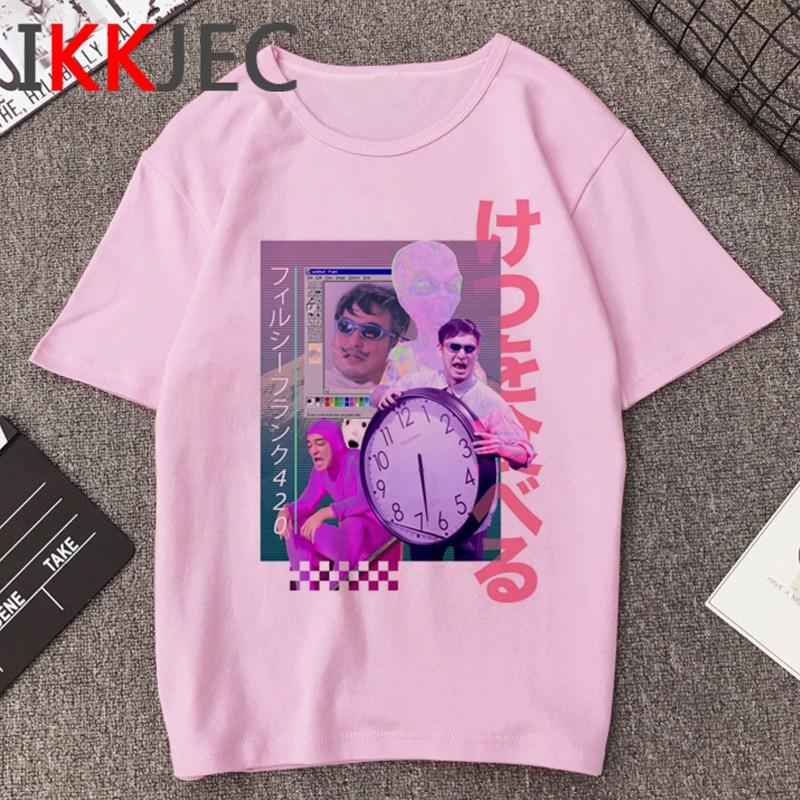 Vaporwave Hip Hop T-shirt Hommes Harajuku Grunge Esthétique T-shirt Unisexe Mode Ullzang T-shirt Streetwear Graphique top T-shirts Mâle