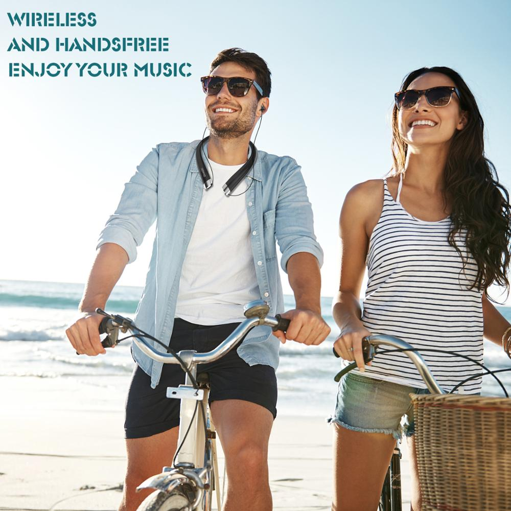 Amorno TWS Earphone Bluetooth 4 1 Noise Reduction Sports Wireless Earpiece Handsfree Neckband Headset Earbud Built in Microphone in Phone Earphones Headphones from Consumer Electronics