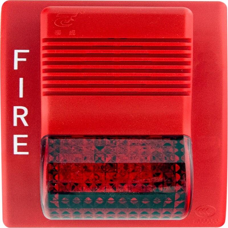 LPCB Approved Addressable Fire Alarm Strobe Sounder Beacon Horn Strobe Flash And Sounder 24VDC