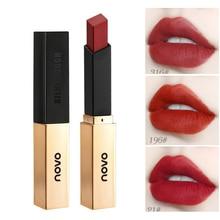 TEEMO 6 Colors Matte Lipsticks Waterproof Matte Thin tube small gold bar Lipstick Lip Cosmetic Women Fashion Makeup Lipstick