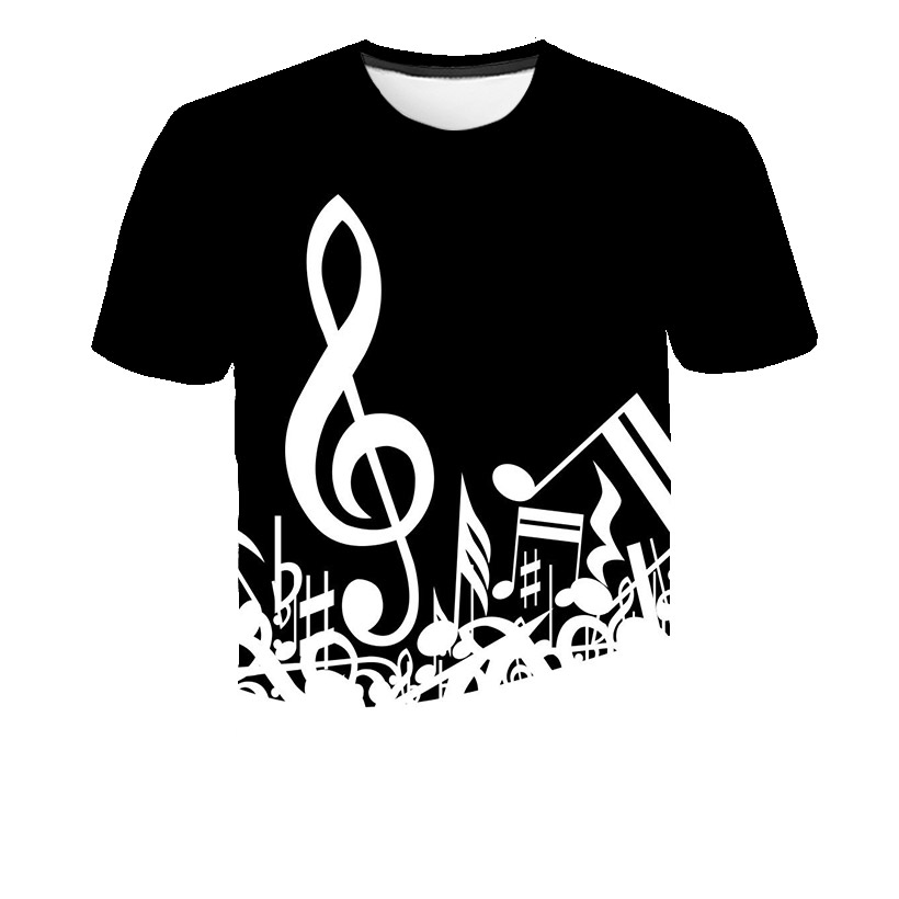 Music Notes Funny Printed T Shirt Men/Women Summer Music Short Sleeve T-shirts Man Casual Tops T Shirt Brand Tee Shirt Homme