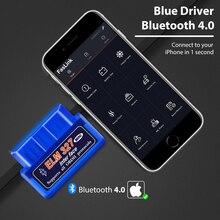 Bluetooth פרו ELM327 BlueDriver OBD2 סורק אבחון עבור iPhone ו android Faslink סריקה כלי משלוח תוכנה