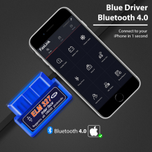 Bluetooth Pro ELM327 BlueDriver OBD2 Scanner Diagnosis for iPhone and Android Faslink Scan Tool Free Software
