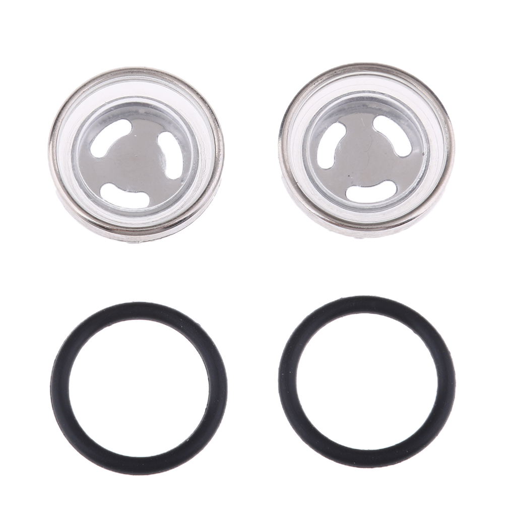 4 Pcs. Universal Motorcycle Sight Glass Oil Sight Glass With Sealing Rings Suitable For Front Or Rear Brake Cylinder, Φ18mm