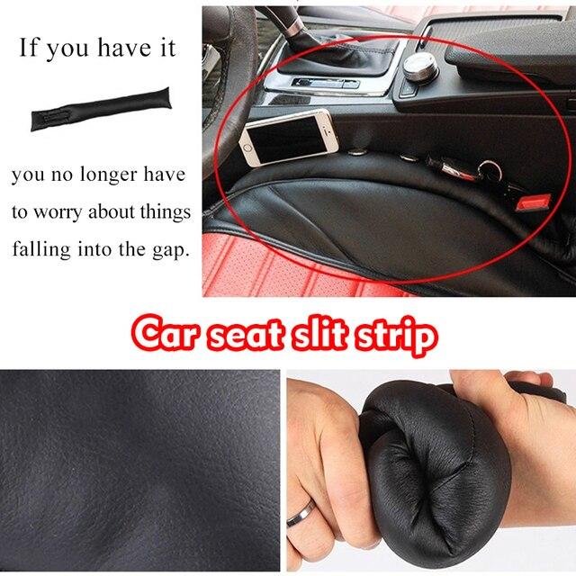 2pcs/lot PU Leather Car Seat Gap Pad For LADA Granta Fillers Spacer Filler Slot Plug Pad Car Styling Decoration