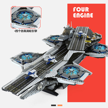 Super Movies Series The SHIELD Helicarrier Building Blocks 2996PCS  Compatible with 76042 lepins 07043 Toys Bricks lepin 05062 1359pcs series the imperial super star destroyer set building blocks bricks compatible with 75055 boy toy