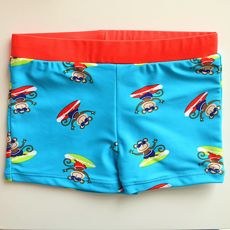 Blue Orange Belt Little Monkey CHILDREN'S Swimming Trunks Cute Boy Infants Small Children Swimming Hot Springs AussieBum