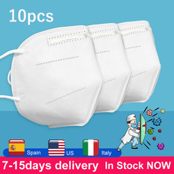 Ship From United States 10pcs KN95 Masks Filter 3Layers Non-woven Facial Mask Fast Shipping In Stock