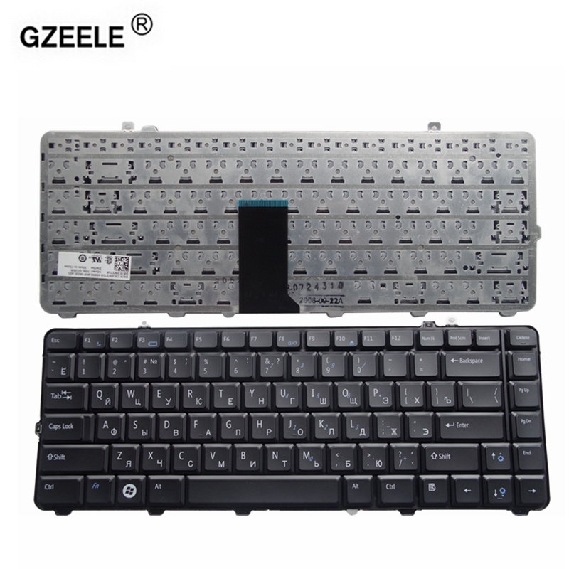 RUSSIAN Laptop Keyboard for <font><b>Dell</b></font> 1535 D1535 1531 1536 1537 <font><b>1435</b></font> 1555 PP39L PP24L RU layout black color new keyboard image