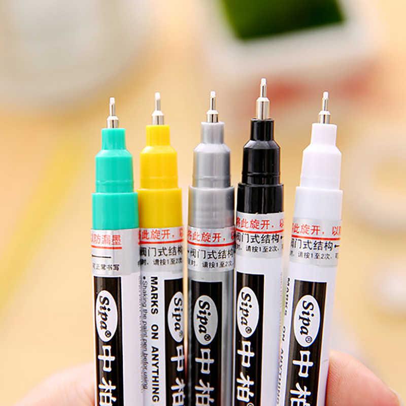Sipa Olie Gebaseerde 8 Kleuren 0.7mm Neelde Pennen Extra Fijne Punt Verf Marker Permanent Marker Pen DIY Art markers Graffiti Verf