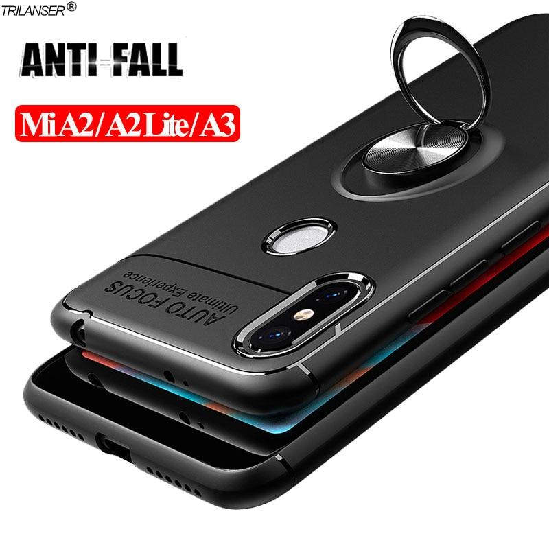 360 Ring Case For mia3 xiaomi mia2lite Magnetic Stand Holder Cover A2-Lite Shockproof Bumper Cases xaomi a2lite mia 3 mi lite a2(China)