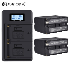 цена на NP-F960 NPF960/F970 LCD Dual Charger+2Pcs 7200mAh NP-F970 NP F970 Power Display Battery  for SONY F930 F950 F770 F570 CCD-RV100