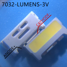 1000pcs LUMENS LED Backlight Edge LED Series 0.7W 3V 7032 สีขาวสำหรับSAMSUNG LED LCD BacklightทีวีApplicatio A150GKCBBUP5A