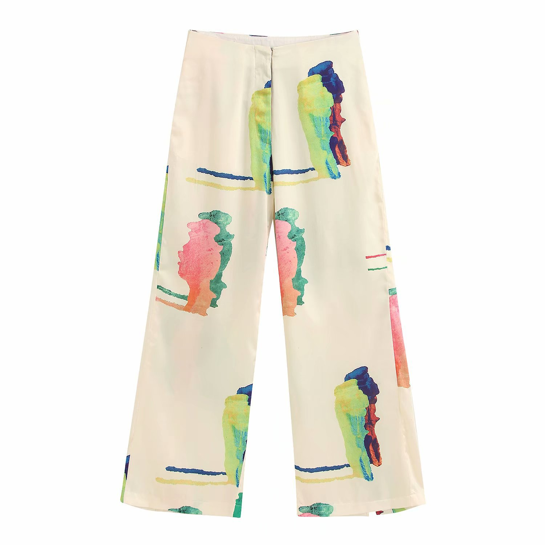2020 New Spring Summer New Style European Printed Casual Female Pants Zaraing Vadiming Sheining WOMEN Pants Trousers BGB2126