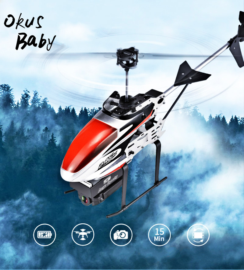 2019 Newest Design 2.4G 4CH 6 Aixs Hover Altitude Hold Wifi APP Control RC Helicopter With HD Camera