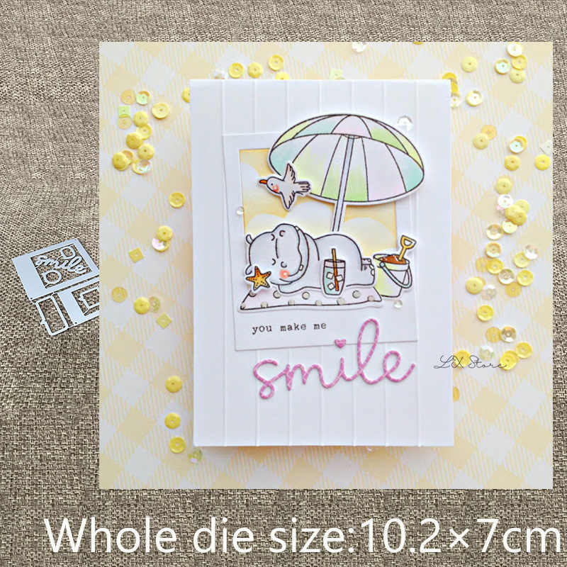 Nouveau Design artisanat métal découpe matrices sourire photo cadre décoration scrapbook matrices découpe Album papier carte artisanat gaufrage matrices