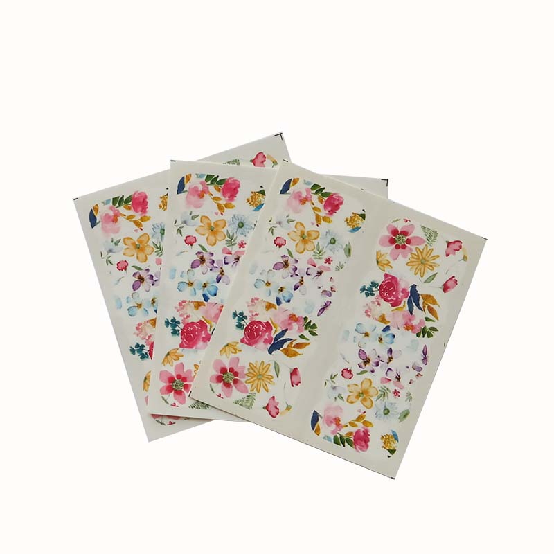 3pcs Nail Art Beauty Water Transfer Decal Slider Stickers Flower Decor DIY Colorful A27