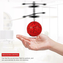 RC Induction Aircraft Flying Ball for Kids Hand Control Toys Mini Infrared Sensor Flying Ball Funny Colorful LED Light Helicopte 2019 new electric flying ball luminous toys led light mini helicopter infrared induction aircraft flashing ball for kids lantern