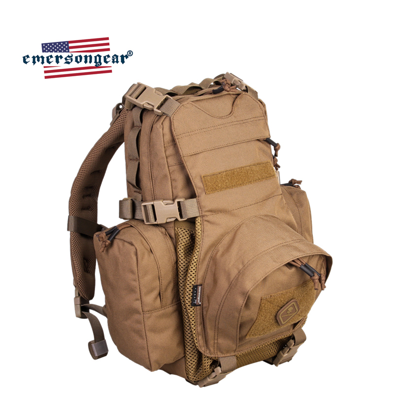 Emersongear Assault Tactical Backpack Yote Hydration Water Proof Military Army Outdoor Sports Bag Hiking Hunting Backpack
