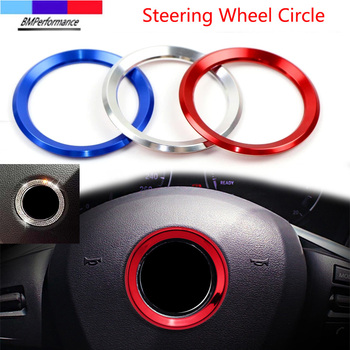 Car Styling Decoration Ring Steering Wheel Circle Sticker For Bmw E36 E46 E90 E91 E92 E93 E81 E87 E88 E34 E39 E60 E61 E84 E83 Z4 image