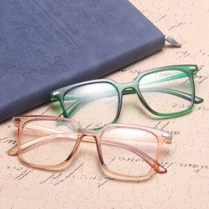 Image 5 - الموضة الكلاسيكية ساحة مكافحة نظارات الضوء الأزرق الرجال نظارات الكمبيوتر للنساء 2020 العلامة التجارية مصمم إطار نظارات شمسية شفافة