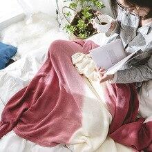 Vladimir Rueijing текстиль Стиль Хлопок градиент трикотажное повседневное одеяло домашнее полотенце одеяло для фото кровати и завтрака Blan