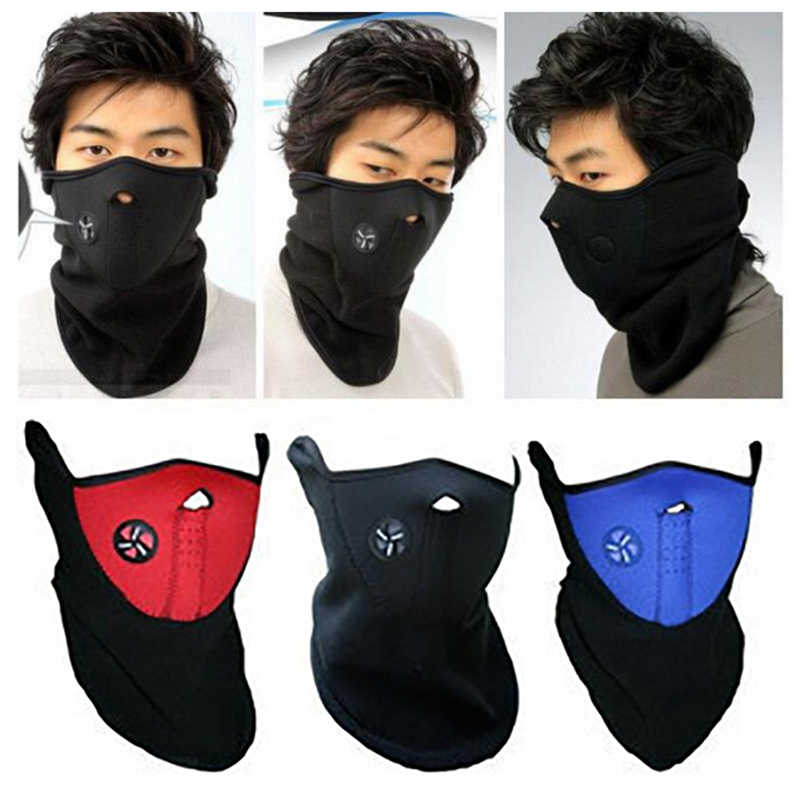 1PCS Auto Motorcycle helmet Half Face Mask Cover Cycling Riding Snowboard Ski Outdoor Sport Windproof Warm Winter Neck Face Mask