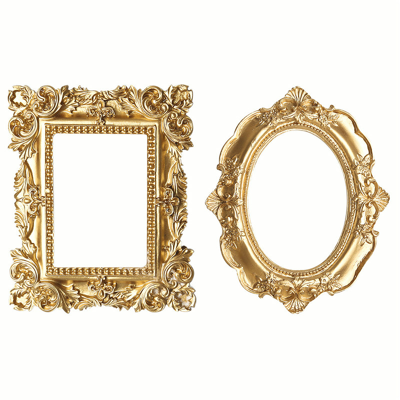 Retro Photo Frame Gold Picture Frame Home Decor Photography Props MINI Wedding Pictures Frames Gifts Desk Decoration Ornament|Frame|Home & Garden - title=