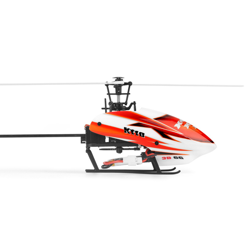 Weili XK K110 Six Channel Non Aileron Helicopter Brushless Stand up Remote Control Aircraft 3D Inverted Model Airplane|  - title=