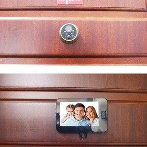 Image 5 - Topvico Judas Porte Caméra 4.3 Pouce Couleur Écran Avec Électronique Sonnette LED Lumières Vidéo Porte Viewer Vidéo La Maison des yeux sécurité
