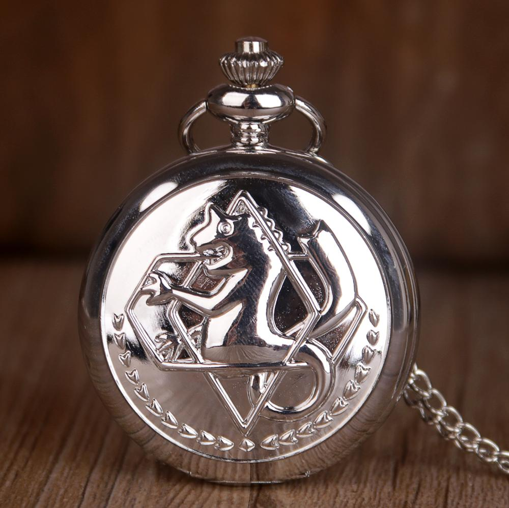 High Quality Metal Alchemist Pocket Watch Dull Hollow Unisex Men Quartz Pocket Watch Roman Number Men Women Watch With Fob Chain
