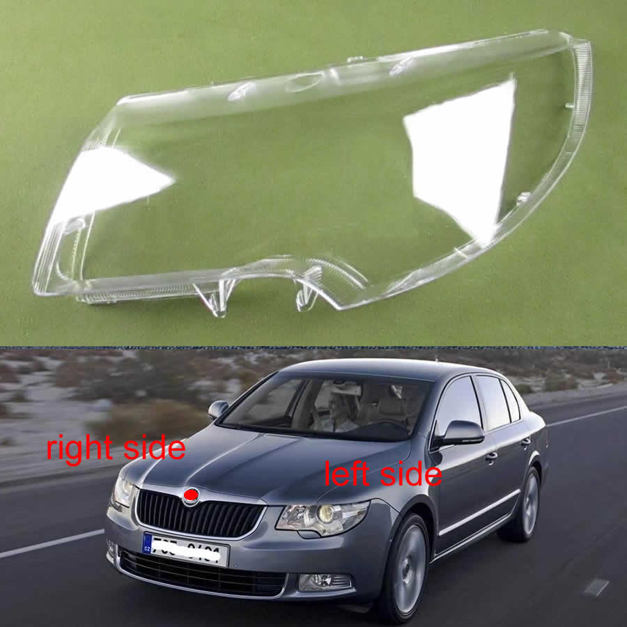 For Skoda Superb 2009 2010 2011 2012 2013 Headlights Cover Headlights Shell Transparent Cover Lampshdade Headlamp Shell Lens