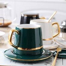 Coffee-Cup Water-Bottle Luxury Mug Drinkware Milk Tea Gifts Retro Ceramic with Spoon