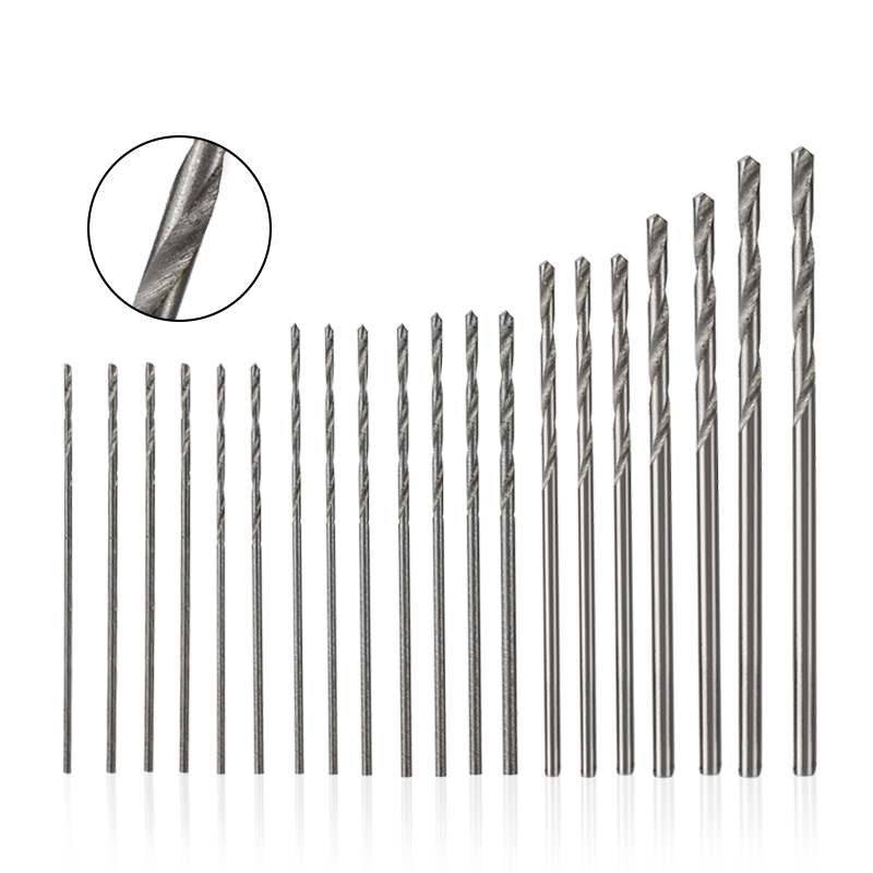 CMCP HSS Twist Drill Bits 0.3-1.6mm Mini Micro Drill Bit Set Aluminum Hand Drill Model Craft With Case Tool Mini Drill Bit