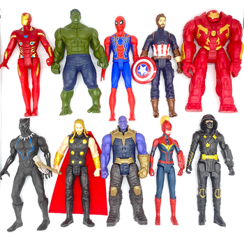 30cm Marvel Avengers Toys Thanos Hulk Buster Spiderman Iron Man Captain America Thor Wolverine Black Panther Action Figure Dolls single sale building blocks mk85 thor doctor octopus pepper captain america spiderman figures for children education toys kf6097