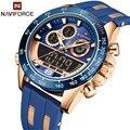 NAVIFORCE Männer Luxus Marke Uhr Wasserdichte Digital Military Quarz Armbanduhr Sport Chronograph Silikon Armband Uhren für Männer