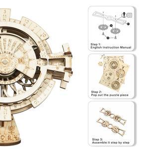 Image 4 - Robotime ROKR wieczny kalendarz 3D Puzzle drewniane zabawki montaż Model zestaw do budowania zabawki dla dzieci LK201 Drop Shipping