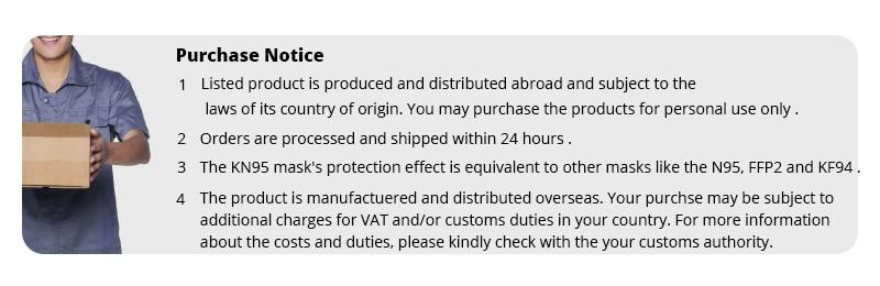 KN95 CE Certification Dust Respirator Mask Pad 10 pcs/bag