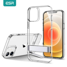 ESR für iPhone 12 Fall Zurück Abdeckung für iPhone 12 mini 12Pro Max Metall Ständer für iPhone 12 Pro Max klar Fall Funda Coque