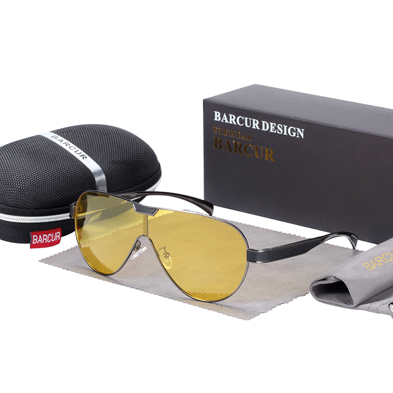 BARCUR Driving Polarized Sunglasses Men Brand Designer Sun glasses for Men Sports Eyewear lunette de soleil homme 8