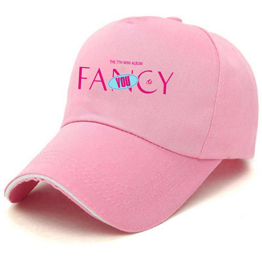 KPOP مرتين لك مومو NAYEON DAHYUN سانا CHAEYOUNG مينا ألبوم أسود وردي قبعة بيسبول الهيب هوب قبعة للرجال النساء للجنسين القبعات