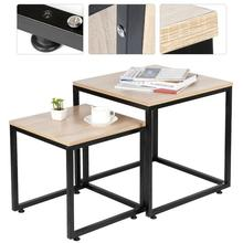Furniture Coffee-Tables Living-Room Table-Hwc Nordic-Light Wooden Cafe Modern Square
