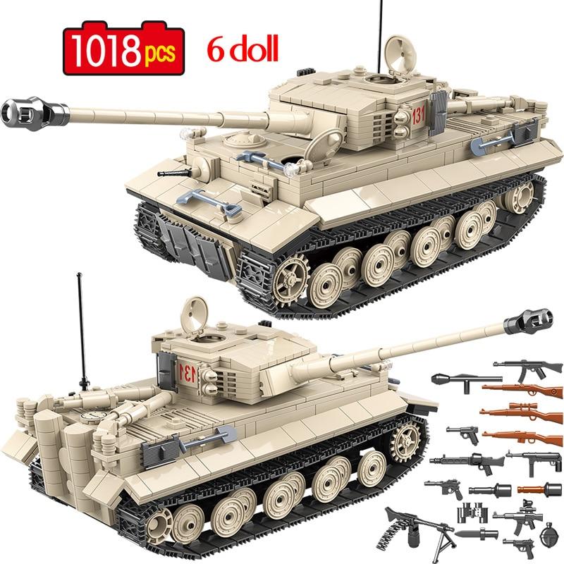 1018pcs Military German 131 Tank Soldier Weapon Building Blocks Brick