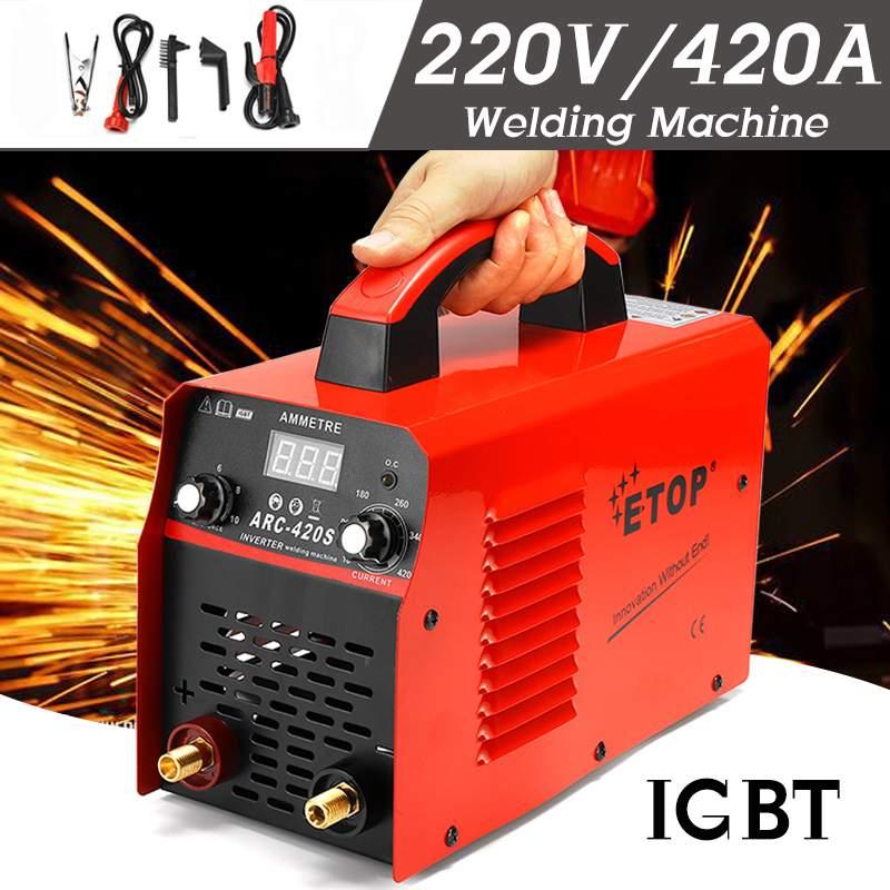DC Inverter ARC Schweißer 0-420A 220V Handheld IGBT Inverter Mini Elektrische ARC Schweißen Schweißer Inverter Maschine Werkzeug
