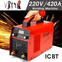 DC Inverter ARC Welders 0 420A 220V Handheld IGBT Inverter Mini Electric ARC Welding Welders Inverter Machine Tool