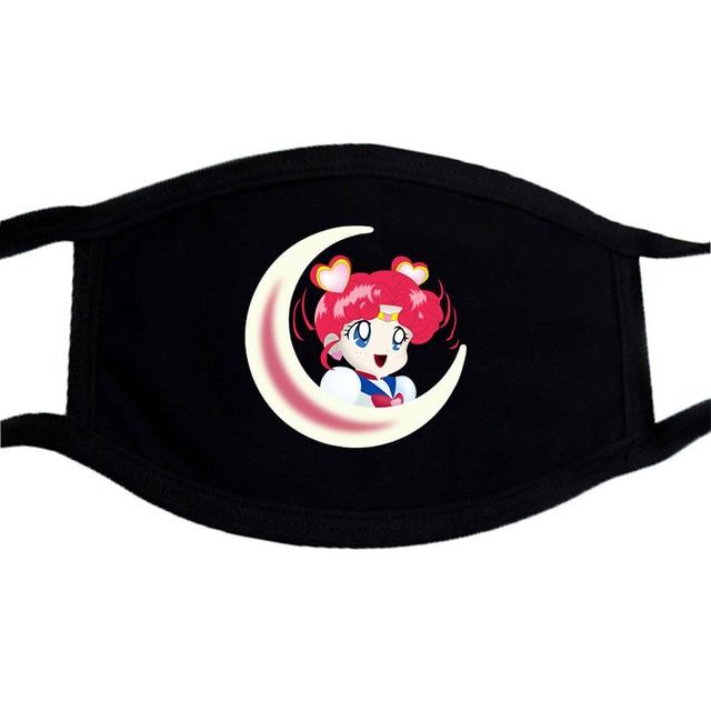 Sailor Moon Face Mask Balck Anime Print Kpop Washable Mask Face Respirator Unisex Mouth Maske Cartoon Anti Dust Mouth-Muffle 5