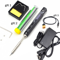 TS100 Mini Portable Smart Programmable Electric Soldering Iron Digital LCD Display Original Replacement Tip High Frequency+GIFT