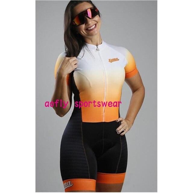 Gradiente cor profissão triathlon terno roupas ciclismo skinsuits rosa roupa de ciclismo macacão das mulheres triatlon kits 3